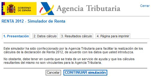 Renta 2012 y simulador del iprf 2012 preguntas frecuentes for Oficina virtual de la agencia tributaria